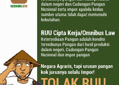 Gerbang Tani Tolak RUU Cipta Kerja, RUU Ini Mengubur Cita-Cita Indonesia Berdaulat Pangan