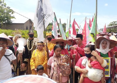 Areal Lahan Dirampas, Petani Deli Serdang Protes Jalan Kaki ke Istana